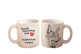 Australian Kelpie, mug with a dog, high quality, cup, ceramic, new collection