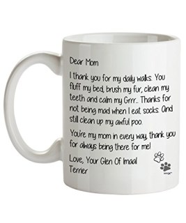 Glen Of Imaal Terrier Mom Coffee Mug - Dear Mom - Dog Themed Gifts For Dog Lady, Mommy, Owner - Birthday, Christmas, Mother's Day - Novelty Cup By Whizk MDDME082