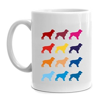 Eddany Colorful Field Spaniel Mug