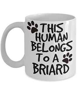 Briard Mug - White 11oz Ceramic Tea Coffee Cup - Perfect For Travel And Gifts