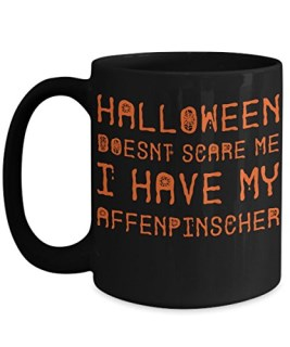 Halloween Affenpinscher Mug - White 11oz Ceramic Tea Coffee Cup - Perfect For Travel And Gifts