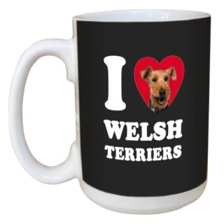 Tree Free Greetings LM45139 I Heart Welsh Terriers Ceramic Mug with Full-Sized Handle, 15-Ounce