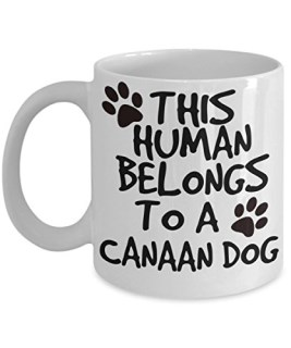 Canaan Dog Mug - White 11oz Ceramic Tea Coffee Cup - Perfect For Travel And Gifts