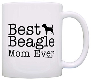 Dog Lover Gifts Best Beagle Mom Ever Animal Pet Owner Rescue Gift Coffee Mug Tea Cup White