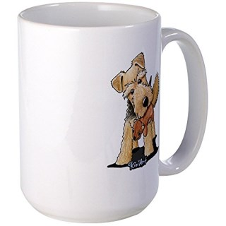 CafePress - Welsh Terrier With Squirrel - Coffee Mug, Large 15 oz. White Coffee Cup