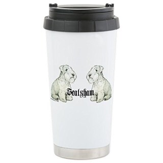 CafePress - Sealyham Terrier Dog Portrait Stainless Steel Trav - Stainless Steel Travel Mug, Insulated 16 oz. Coffee Tumbler