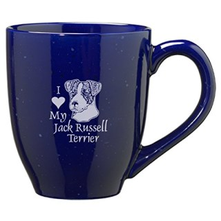16-ounce Ceramic Coffee Mug- I love my Jack Russell Terrier-Blue