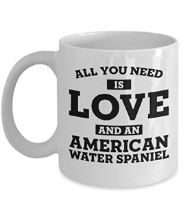 Funny American Water Spaniel 11oz Coffee Mug - Love Dog - Unique Gift For Men and Women Pet Lovers