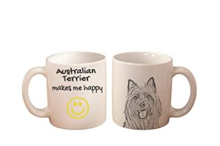 Australian Terrier, mug with a dog,, cup, ceramic, new collection