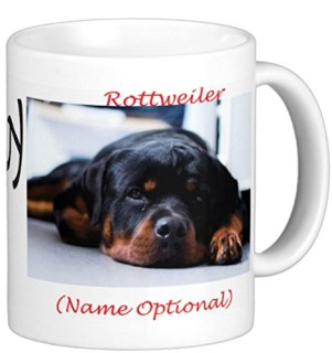 I Love My Dog Breed on 11 0z. Coffee Mug for Dog Lovers Gift Dog Companion Over 20 Breeds and Colors (Rottweiler 3)