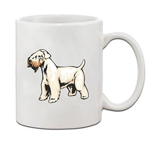 Irish Soft Coated Wheaten Terrier Ceramic Coffee Tea Mug Cup 11 Oz - Holiday Christmas Hanukkah Gift for Men & Women
