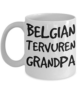 Belgian Tervuren Grandpa Mug - White 11oz Ceramic Tea Coffee Cup - Perfect For Travel And Gifts