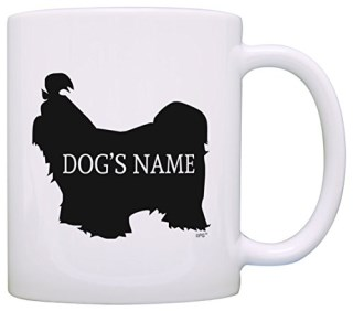 Personalized Dog Owner Gift Shih Tzu Add Dog's Name Pet Dog Lover Gift Coffee Mug Tea Cup White