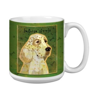 Tree-Free Greetings XM28038 John W. Golden Artful Jumbo Mug, 20-Ounce, English Setter