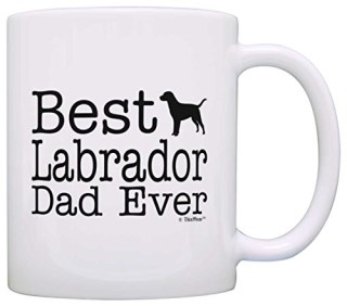 Dog Lover Gifts Best Labrador Dad Ever Lab Retriever Pet Owner Rescue Gift Coffee Mug Tea Cup White