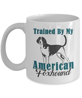 AMERICAN FOXHOUND COFFEE MUG: Creative Hot Beverage Printed Mugs for Men, Women, Mom and Dad - Cute, Funny, Clever, Unique Specialty Drinkware - Microwave & Dishwasher Safe - Fade Resistant