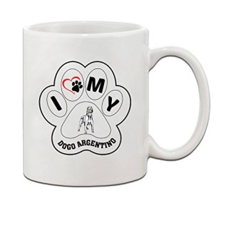 DOGO ARGENTINO DOG I PAW MY Ceramic Coffee Tea Mug Cup 11 Oz - Holiday Christmas Hanukkah Gift for Men & Women