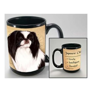 MY FAITHFUL FRIEND JAPANESE CHIN, BLK & WHT COFFEE CUP MUG PET GIFT
