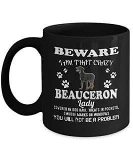 Beauceron Mug, Beauceron Coffee Mug Cute Gifts for Dog Mom Love Tea Beer Travel As Seen on T Shirt, 11 Ceramic Black Cup