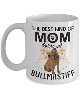 Kiwi Styles The Best Kind Of Mom Raises A Bullmastiff - 11 Oz White Ceramic Coffee Mug / Funny Gift For Mom, Dog Lovers - Best Gift Idea For Mother's