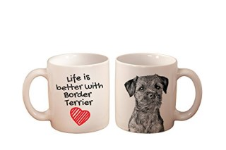 Border Terrier, mug with a dog, high quality, cup, ceramic, new collection