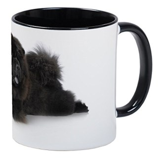 CafePress - Black Chow-Chow In Studio On White Back Mug - Unique Coffee Mug, Coffee Cup