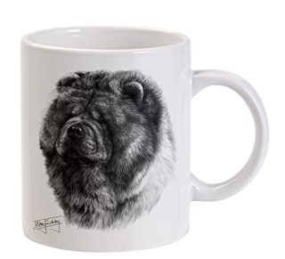 Mike Sibley Chow Chow White Mug