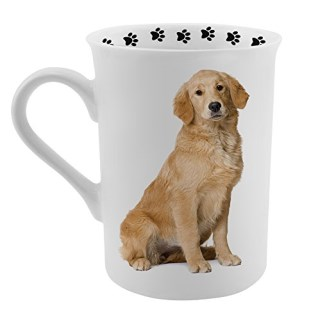 Dimension 9 Golden Retriever Coffee Mug, White