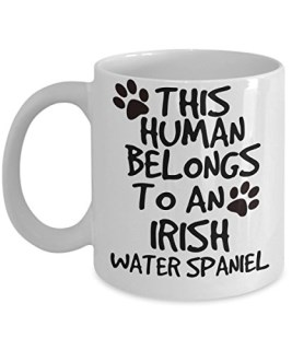 Irish Water Spaniel Mug - White 11oz Ceramic Tea Coffee Cup - Perfect For Travel And Gifts