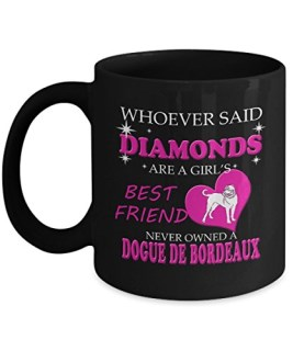 Dogue De Bordeaux Mug, Dogue De Bordeaux Coffee Mug Cute Gifts For Long Haired Big Dad Mom Love Dog Tea Beer Travel As Seen on T Shirt, 11 Ceramic Bla