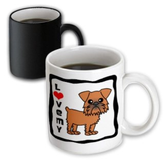 3dRose I Love My Brussels Griffon Brown Magic Transforming Mug, 11-Ounce