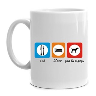 Eddany Eat sleep Grand Bleu De Gascogne Mug