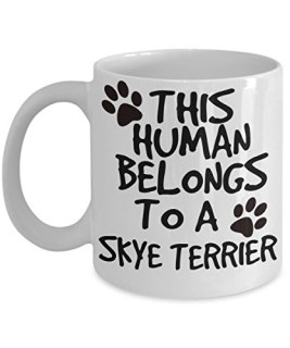 Skye Terrier Mug - White 11oz Ceramic Tea Coffee Cup - Perfect For Travel And Gifts