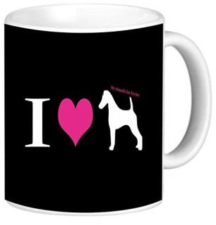 Rikki Knight I Love My Smooth Fox Terrier Dog Photo Quality Ceramic Coffee Mug, 11-Ounce