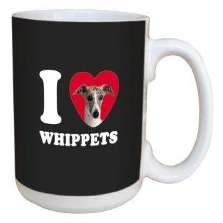 Tree Free Greetings LM45141 I Heart Whippets Ceramic Mug with Full-Sized Handle, 15-Ounce