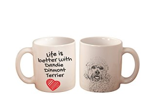 Dandie Dinmont Terrier, mug with a dog, high quality, cup, ceramic, new collection
