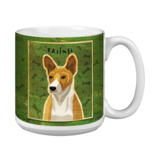 Tree-Free Greetings XM28073 John W. Golden Artful Jumbo Mug, 20-Ounce, Red Basenji
