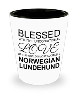 Norwegian Lundehund Travel Mug - Dog Lover Gifts And Accessories - Blessed with the Unconditional Love of the World's Most Adorable Animal - Insulated Tumbler