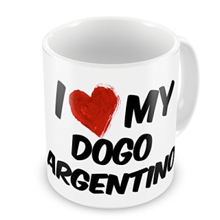 Coffee Mug I Love my Dogo Argentino Dog from Argentina - Neonblond