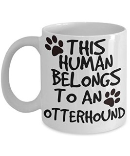 Otterhound Mug - White 11oz Ceramic Tea Coffee Cup - Perfect For Travel And Gifts