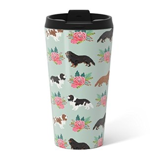 Society6 Cavalier King Charles Spaniel Must Have Gift Accessories For Dog Breed Owner King Charles Dog Metal Travel Mug 15 oz