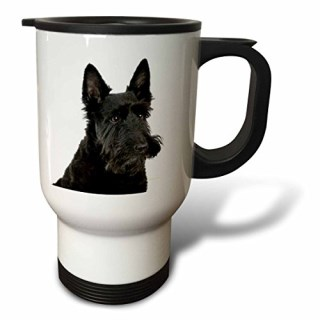 3dRose tm_21045_1 Scottish Terrier Travel Mug, 14-Ounce, Stainless Steel
