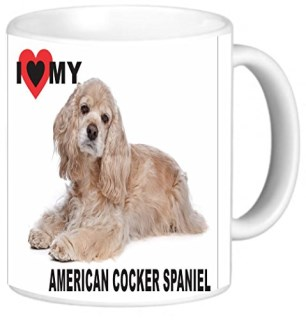 Rikki KnightTM I Love My American Cocker Spaniel Dog Design 11 oz Photo Quality Ceramic Coffee Mug Cup - FDA Approved - Dishwasher and Microwave Safe