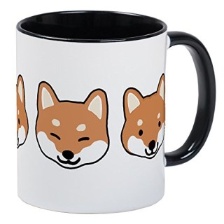 CafePress - Shiba Inu Faces Mug - Unique Coffee Mug, Coffee Cup