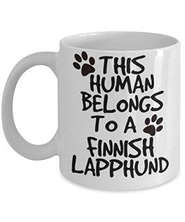 Finnish Lapphund Mug - White 11oz Ceramic Tea Coffee Cup - Perfect For Travel And Gifts