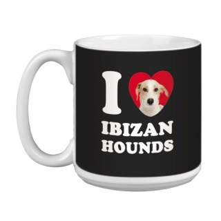 Tree Free Greetings XM29066 I Heart Ibizan Hounds Artful Jumbo Mug, 20-Ounce