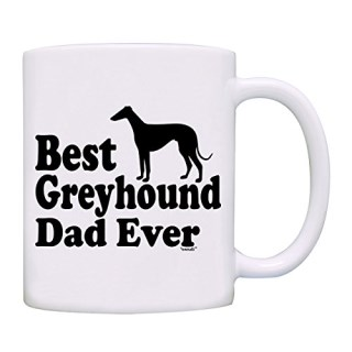 owndis Best Greyhound Dad Ever Gift Coffee Mug-0089-White