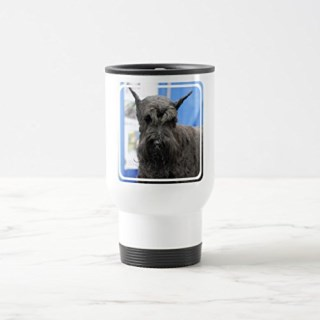 Zazzle Giant Schnauzer Beer Stein, White Travel/Commuter Mug 15 oz