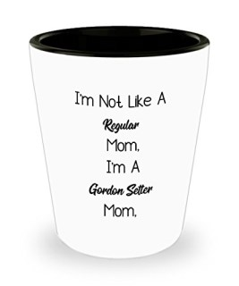 Funny Gordon Setter Mom 11oz Coffee Mug - I'm Not Like A Regular Mom, I'm A Gordon Setter Mom. - Best Inspirational Gifts For Dog Lover