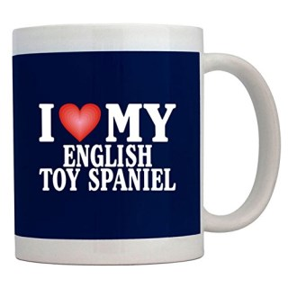 Teeburon I LOVE English Toy Spaniel Mug